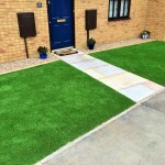 Artificial turf & sandstone path 1.