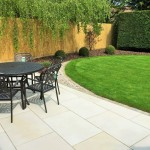 Honed sandstone, dressed edge & turf 4.