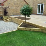 3 tiered garden design / construction 2.