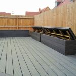 Large composite decked area with seating.