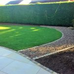 Honed sandstone, dressed edge & turf 3.