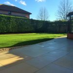 Honed sandstone, dressed edge & turf 2.
