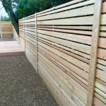 Larch bespoke fence.